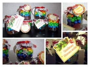 Новогодние баночки со сладостями