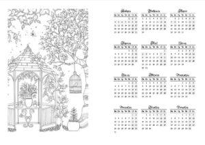 Страница ежедневника с календарем